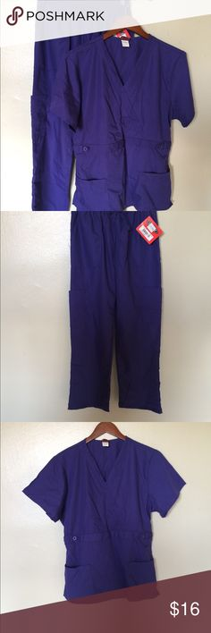 NWTs Purple Medical Scrubs Set, Size M/L NWT Purple Medical Scrubs Set, Size M/L Top is size large, pants are size medium. Other
