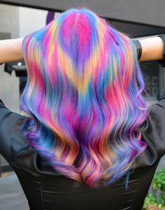 121 chocolate brown and lilac hair looks – page 3 Dark Purple Hair Color, Light Purple Hair, Lilac Hair, Green Hair, Violet Hair, Bright Hair, Blue Hair, Cute Hair Colors, Hair Dye Colors