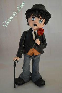 Charlie Chaplin, Cold Porcelain, Polymer Clay, Boys, Character, Ideas, Cold, Baby Boys, Kids