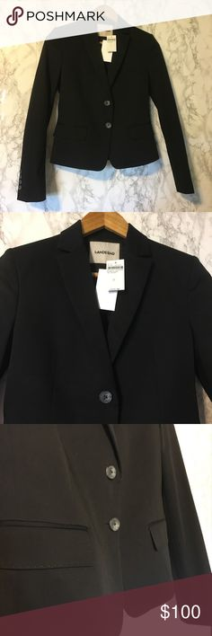 NWT! Lands' End Career Work Office Black Blazer 2 • name brand: LANDS' END • style: Sporty Blazer • design: Career Office Chic  • condition: New With Tags! Flawless!  • size: 2 (XS) • details: Long sleeves, two buttons down, two front pockets, sleeves can be rolled up for more edgy, original price: $225! • color: Black • material: 98% Cotton, 2% Spandex - jacket does stretch! • This blazer is cute for winter / spring career work professional office wear! A must-need! • Perfect for your…