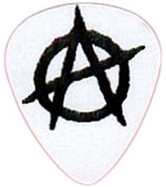 """myLife Hard """"Round Tip"""" Guitar Pick {Punk Anarchy Symbol - Great for Acoustic and Electric Guitar} [Single Pick] myLife Brand Products http://www.amazon.com/dp/B00V71FQX2/ref=cm_sw_r_pi_dp_9Rhfvb1E6WME6"""