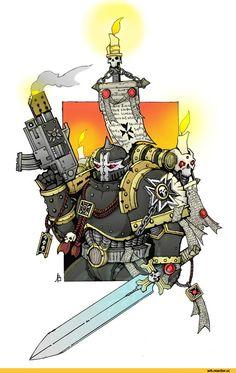 Warhammer 40000,warhammer40000, warhammer40k, warhammer 40k, ваха, сорокотысячник,фэндомы,Black Templars,Чёрные Храмовники,Space Marine,Adeptus Astartes,Imperium,Империум