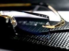 Gold Color of Titanium Frames Men Eyewear 1.61 Index Single Vision Lenses EXIA OPTICAL KD-58 Series