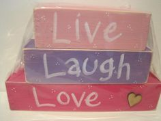 Live, Laugh, Love Blocks by Patches Home Decor