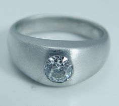 Vintage Jewelry 14.6 grams of Platinum .70ct Old European Diamond Band Ring