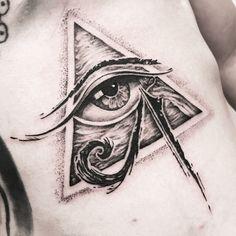 29 Ideas For Eye Tattoo Egyptian Beautiful Eye Of Ra Tattoo, Third Eye Tattoos, All Seeing Eye Tattoo, God Tattoos, Body Art Tattoos, Small Tattoos, Sleeve Tattoos, Tattoos For Guys, Egyptian Eye Tattoos