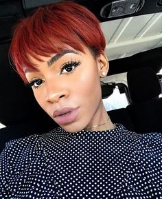 Gorgeous red pixie @victoriouslogan  Read the article here - https://blackhairinformation.com/hairstyle-gallery/gorgeous-red-pixie-victoriouslogan/