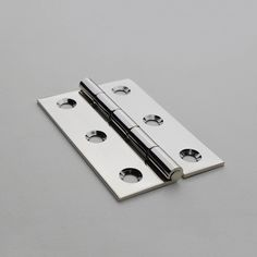 DH-2 Rolled Barrel Hinges in Polished Nickel