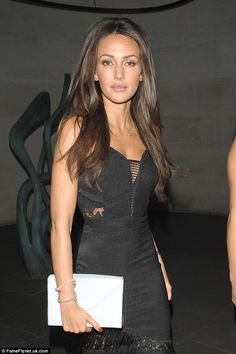 Smouldering: The starlet looked sensational in her black dress as she left for the afterparty on Thursday
