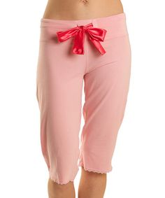 Love this Petal Pink Capri Lounge Pants on #zulily! #zulilyfinds