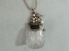 Cut Glass Vintage Salt Shaker Necklace by 58Diamond on Etsy