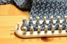 du bout des doigts tricotin géant : arrêt des mailles tricotin long