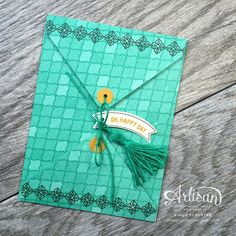 Use the Envelope Punch Board to make unique envelopes with the Moroccan DSP ~ Cindy Schuster