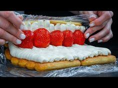 Bardzo łatwy przepis na pyszną roladę z truskawkami bez pieczenia - YouTube Strawberry, Pie, Youtube, Food, Pies, Deserts, Strawberry Fruit, Oven, Crack Cake