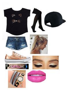 """""""outfit #13"""" by pie221153 ❤ liked on Polyvore featuring 3x1, Converse, Hue and NIKE"""
