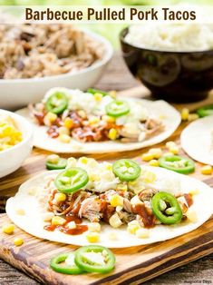 Barbecue Pulled Pork Tacos are a southern twist to a Mexican dish. Make them for your next taco night.