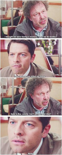 [gifset] 10x18 Book Of The Damned #SPN #Castiel #Metatron