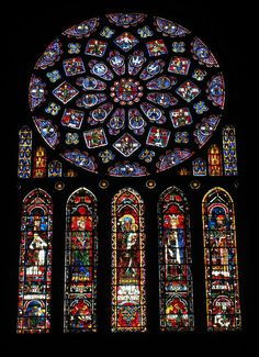Scala Regia Inspirational Archives:  Stained Glass. Cathedral of Our Lady of Chartres