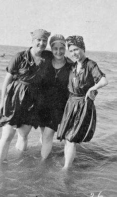 Bathing suits on the Lake Winnipeg shoreline, c. 1914