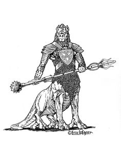 Eric Lofgren Presents: Alien Centaur Warrior - Misfit Studios | Eric Lofgren | Publisher Resources | DriveThruRPG.com White Wolf, Stock Art, Centaur, Art File, Misfits, All Art, Art Images, Studios