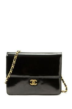 Vintage Chanel Patent Leather Chain Shoulder Bag by Non Specific on @HauteLook