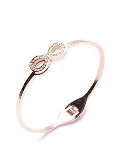 Tied Together Infinity Bracelet Rose Gold #fashion #rosegold #infinity #delicatebracelet #bracelets - 24,90 € @happinessboutique.com