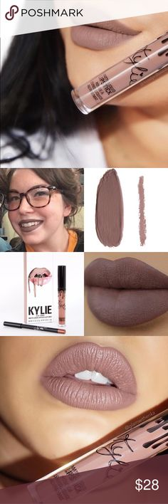 Authentic Kylie Moon Lip Kit Authentic; new; not swatched. Price is FIRM.  Ships in Kylie box.   Moon is a taupe-y nude.  Each Lip Kit contains:  1 Matte Liquid Lipstick (0.11 fl oz./oz. liq / 3.25 ml) 1 Pencil Lip Liner (net wt./ poids net  .03 oz/ 1.0g) Kylie Cosmetics Makeup Lipstick