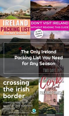 The ultimate packing list for Ireland. Never wonder what to wear in Ireland. This Ireland packing list has you covered whether you travel to Ireland in the Summer, Spring, Winter, or Fall. Plus, get my tips for packing it all in a carry on! Ultimate Packing List, Ireland Travel, Traveling By Yourself, This Or That Questions, Spring, Fall, Winter, Tips, Summer