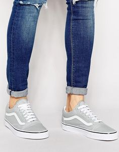 Vans | Vans Old Skool Canvas Trainers at ASOS