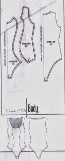 Modelagem Corte e Costura Cléo Alves : Modelagem do Body