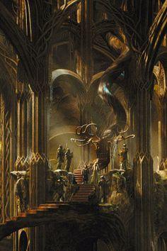 Thorin before Thranduil. (The Hobbit) Fantasy World, Fantasy Art, Legolas And Thranduil, J. R. R. Tolkien, O Hobbit, Desolation Of Smaug, Art Et Illustration, Fantasy Landscape, Middle Earth