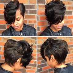 STYLIST FEATURE| Love this #shortcut ✂️ styled by #STLStylist @candice_gavin❤️ Sexy and chic Perfect style for growing out your cut #voiceofhair