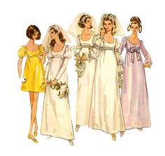 1960s Womens Wedding Dress  Butterick 5564 Vintage by ErikawithaK, $10.00
