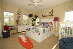 Kids' Surf Bedroom -- love it for boys!