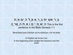 Genesis 1:1 in Hebrew