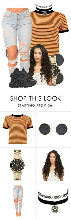 """12/10/16"" by yasnikki ❤ liked on Polyvore featuring Boohoo, Marc by Marc Jacobs, Charlotte Russe and NIKE"