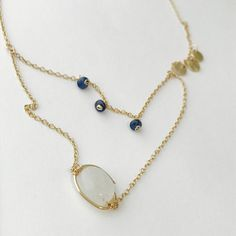 Moonstone Necklace Layering Necklace chandelier Gemstone