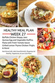 Healthy Meal Plans Week 27 - Slender Kitchen