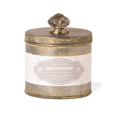 Rosy Rings Beach Tin Collection Candle, Driftwood Rosy Rings
