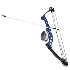 Scuba Choice Bowfishing Adult Compound Bow Archery Complete Set (Reel + Arrow), Blue - OMJ Outdoors