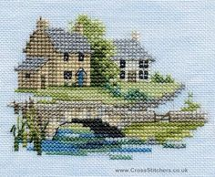 Brookside - Minuets - Cross Stitch Kit from Derwentwater Designs