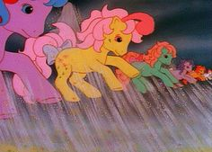 The good old days of My Little Pony . the Flutter Ponies to the rescue! This is for Kristen Original My Little Pony, Vintage My Little Pony, My Lil Pony, Old Cartoons, Classic Cartoons, The Last Unicorn, Little Poney, Childhood Toys, Childhood Memories