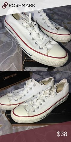 638a9002f708 White converse Barely worn white converse good condition Converse Shoes  Sneakers