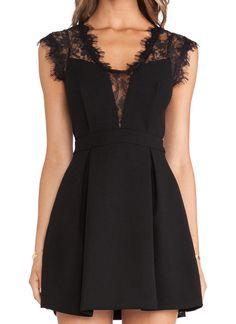 Black Sleeveless Sheer Lace Dress