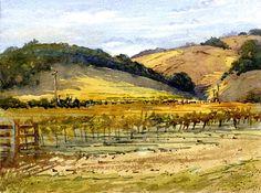 Fall Vineyard - Watercolor