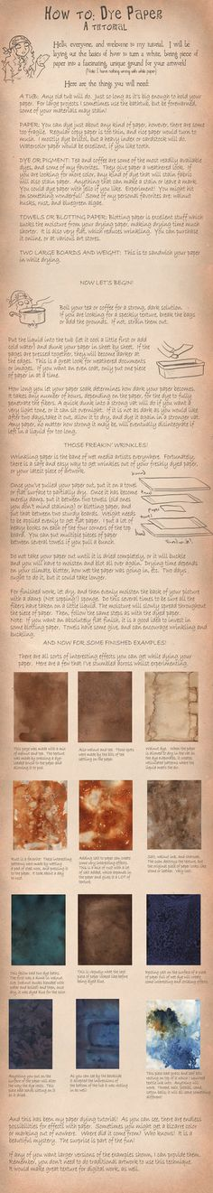 """How to Dye Paper"" - I've tried this before, but it can be tricky!"