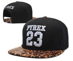 Men's Pyrex Vision Brand Number 23 Custom Leopard Visor Hip Hop Fashion Snapback Hat - Black / White