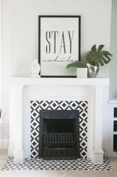 Handpainted Tile Fireplace