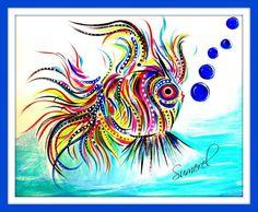 "Artist Greeting Card ""Chinese Fish"""