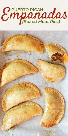 Puerto Rican meat pies, also known as baked empanadas, are a flavorful hand pie recipe with a ground beef, sofrito, and potato filling! You can make these easy savory pies with homemade empanada dough or use frozen Goya discos to simplify it even more. Pie Recipes, Mexican Food Recipes, Cooking Recipes, Supper Recipes, Cinnamon Recipes, Spanish Recipes, Spanish Food, Latin Food, Meat Appetizers